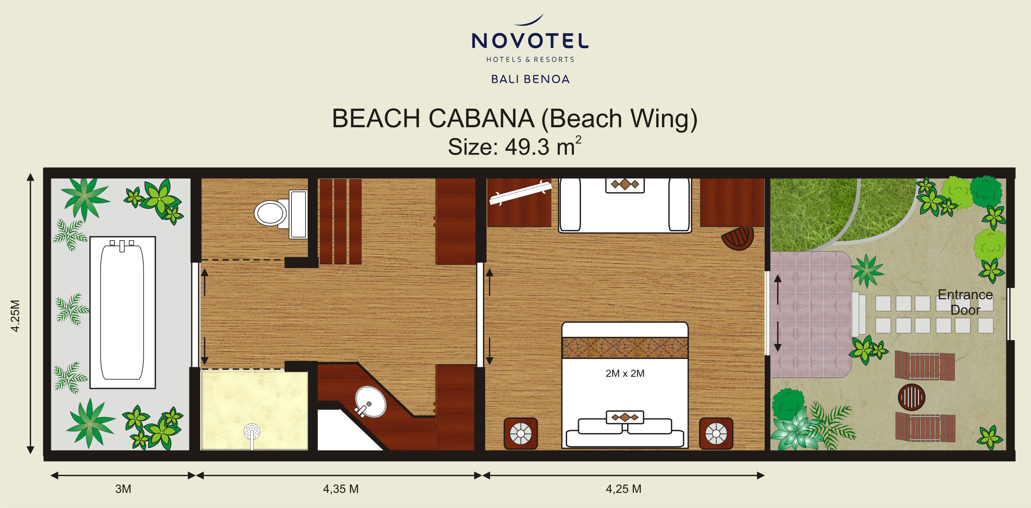 Beach Cabana Novotel Bali Benoa Hotels Amp Resorts