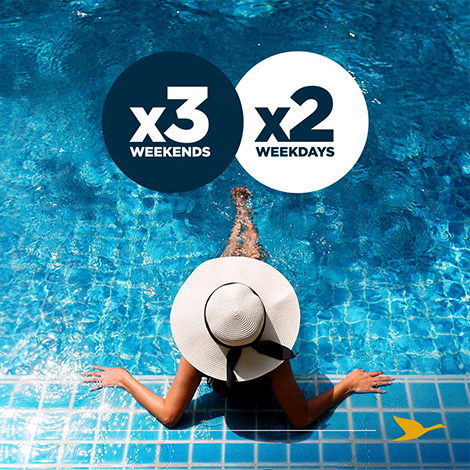 Work & Play – Up to x3 Rewards Points